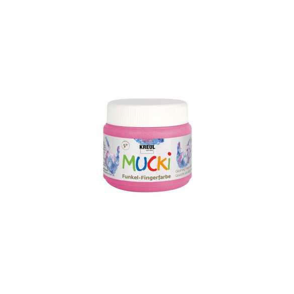 MUCKI Funkel-Fingerfarbe Feenstaub-Rosa 150 ml