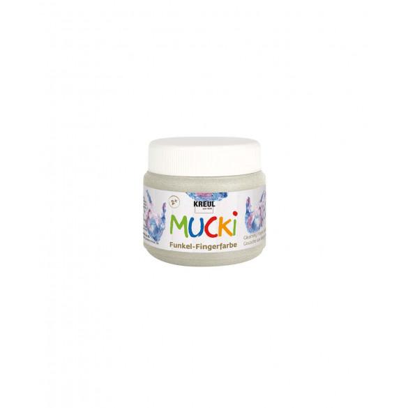 MUCKI Funkel-Fingerfarbe Drachen-Silber 150 ml