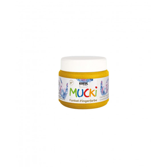 MUCKI Funkel-Fingerfarbe Goldschatz 150 ml