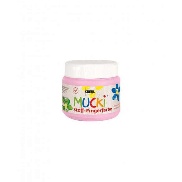 MUCKI Stoff-Fingerfarbe Rosa 150 ml