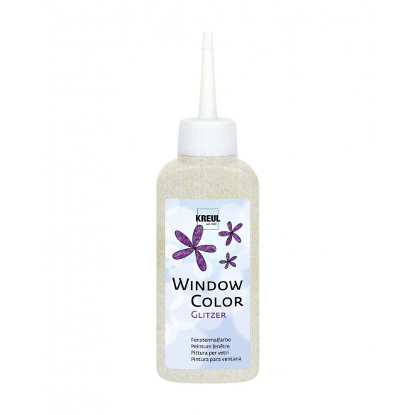 KREUL Window Color Glitzer-Orchidee 80 ml