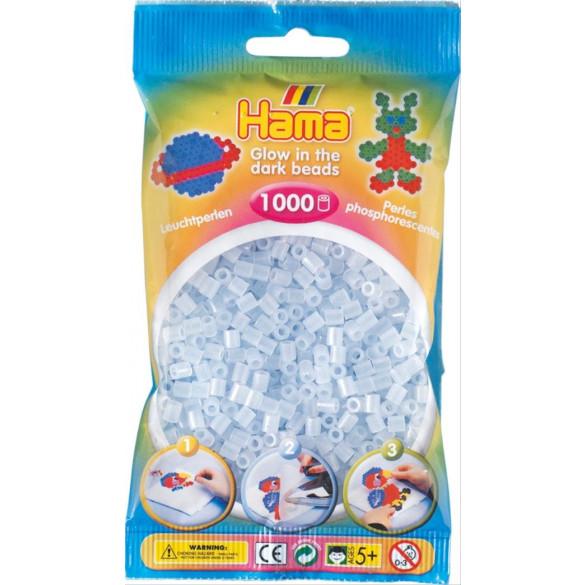 Perlen Leuchtblau