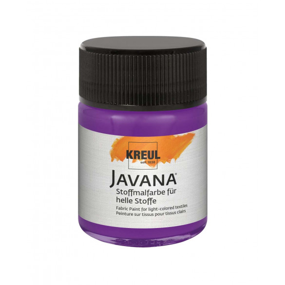 KREUL Javana Stoffmalfarbe für helle Stoffe Violett 50 ml