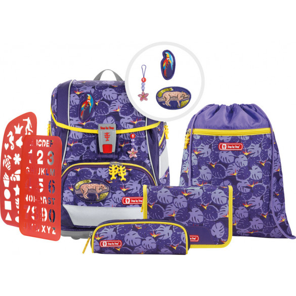 2in1 Plus Schulrucksack Set 6teilig Jungle Cat