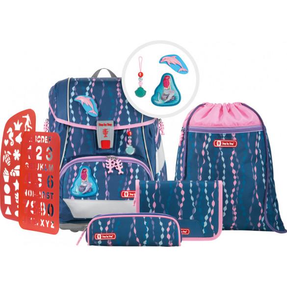 2in1 Plus Schulrucksack Set 6teilig Mermaid