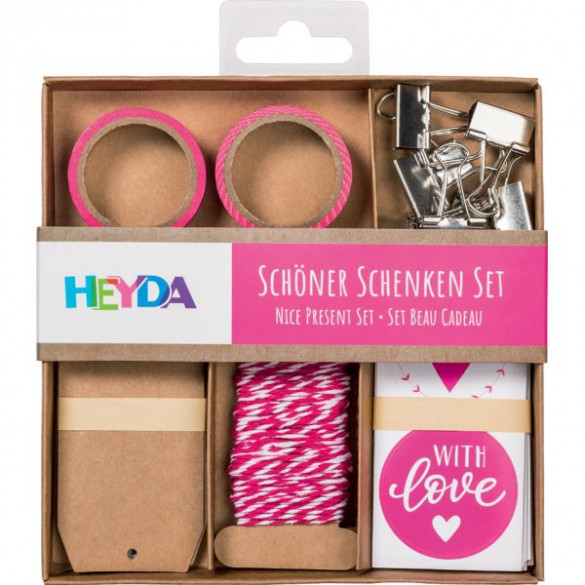 Verpackungs-Set Schöner Schenken rosa
