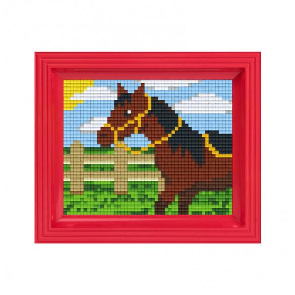 Pixelbild Pferd