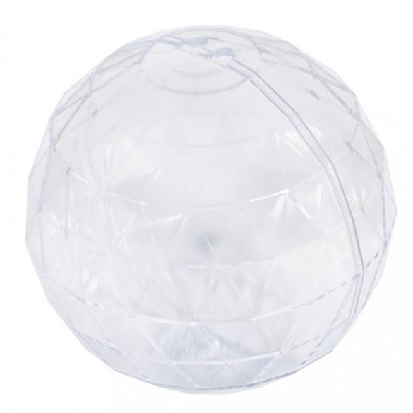 Plastik-Kugel, 2tlg., facettiert, 8cm ø