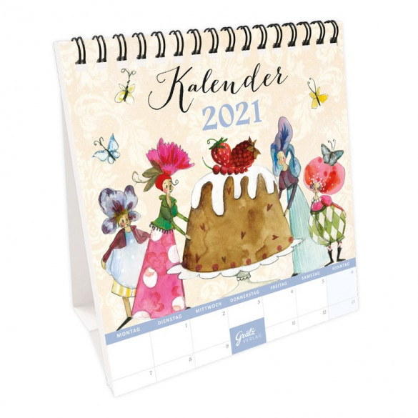 Tischkalender Kuchen 2021