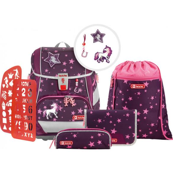 2in1 Plus Schulrucksack Set 6teilig Unicorn