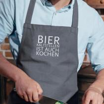 Küchenschürze Bier kalt stellen ist auch Kochen