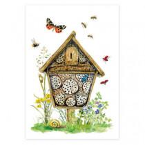 Postkarte Insektenhotel