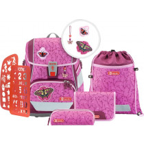 Schulrucksack Set 2in1 Plus Natural Butterfly