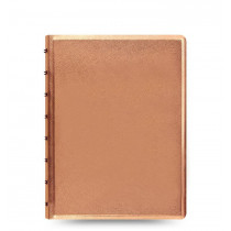 Notizbuch Saffiano A5 rose gold