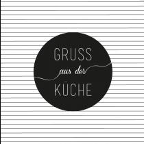 """Serviette ''Gruss aus der Küche"""""""