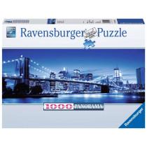 Puzzle Leuchtendes New York Rückseite