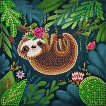 Crystal Art Card Sloth