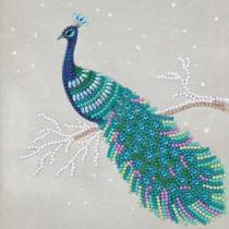 Crystal Art Card Pretty Peacock