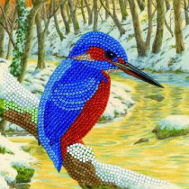 Crystal Art Card Kingfisher
