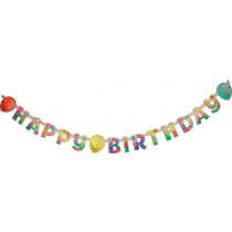 Girlande Happy Birthday Ballons