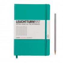 Leuchtturm1917 Notizbuch Medium (DIN A5) smaragd, kariert