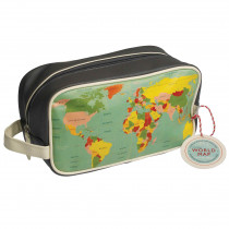 Necessaire Vintage World Map