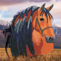 Crystal Art Card Horse