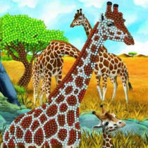 Crystal Art Card Gentle Giraffe