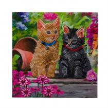 Crystal Art Card Cat Friends