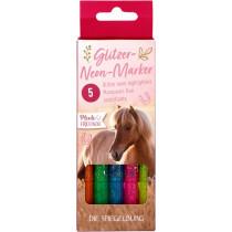 Glitzer Neon Marker Pferdefreunde Verpackung