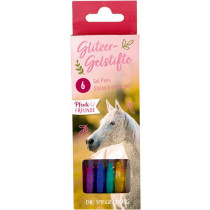 Glitzer-Gelstifte Pferdefreunde Verpackung