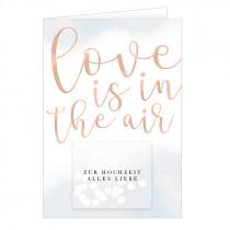 Glückwunschkarte Love is in the air