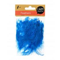 Dekofedern 8 cm blau