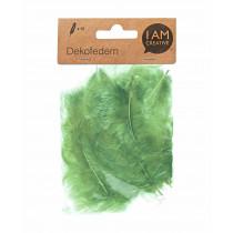 Dekofedern 8 cm lindgrün