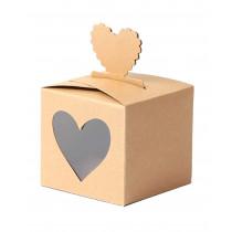 Papierboxen Herz 4 Stk.