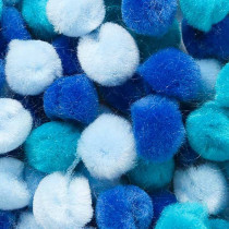 Pompons Blau Mix ø 1.5cm