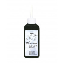 KREUL Window Color Konturenfarbe Schwarz 80 ml