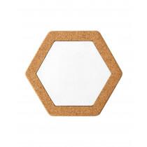 Korkuntersetzer Hexagon