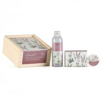 Geschenk-Holzbox Lavendel Schafmilch Nostalgie