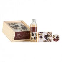 Geschenk-Holzbox Zirbe (Arve) Schafmilch Nostalgie