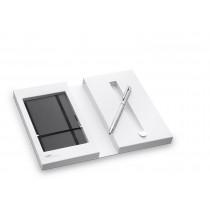 LAMY logo Set twinpen mit Notizbuch 606 silber schwarz