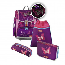 Step by Step Touch 2 Flash Schulthek Set Shiny Butterfly 4-teilig