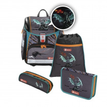 Step by Step Touch 2 Flash Schulthek Set Fire Dragon 4-teilig