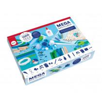 Bastelbox 1000 Teile blau