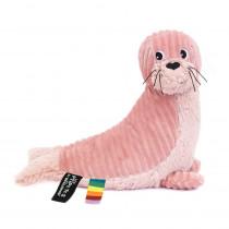Plüschtier Glissou Robbe pink