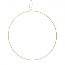 Deko-Metallring ø 50 cm gold