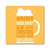Korkuntersetzer Wasser oder Bier?