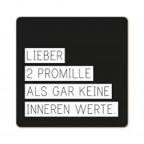 Korkuntersetzer 2 Promille
