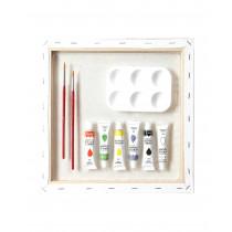 Keilrahmen Set inkl. Farbe, Pinsel und Mischpalette