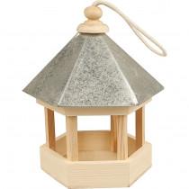 Vogelhaus mit Zinkdach Natur